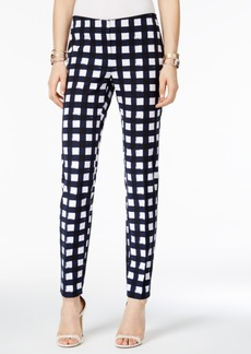 Alfani Petite Printed Skinny Ankle Pants, Created for Macy's