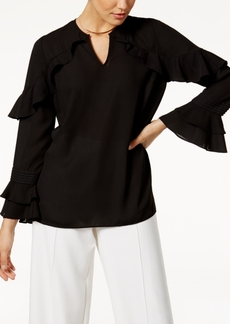 Alfani Prima Ruffle-Sleeve Top, Only at Macy's