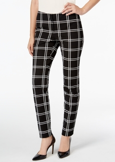 Alfani Prima Slim-Fit Plaid Pants, Only at Macy's