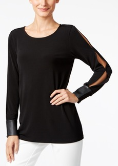 Alfani Prima Split-Sleeve Top, Only at Macy's