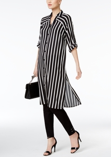 Alfani Prima Striped Tunic Shirt, Only at Macy's
