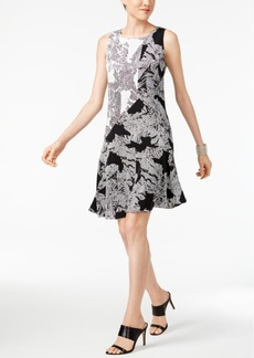 Alfani Printed A-Line Dress, Only at Macy's