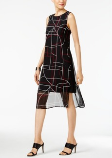 Alfani Printed A-Line Dress, Created for Macy's