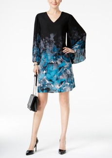 Alfani Printed Accordion-Sleeve Dress, Created for Macy's