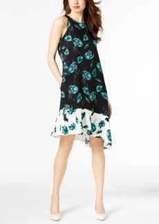 Alfani Printed Asymmetrical Dress, Created for Macy's