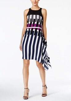Alfani Printed Asymmetrical Dress, Only at Macy's