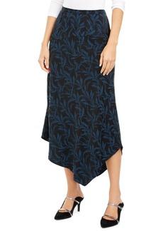 Alfani Printed Asymmetrical Midi Skirt, Created for Macy's