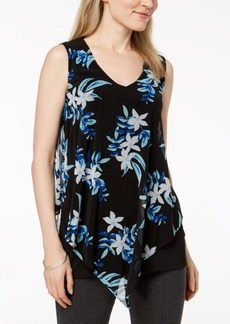 Alfani Printed Asymmetrical Top, Created for Macy's