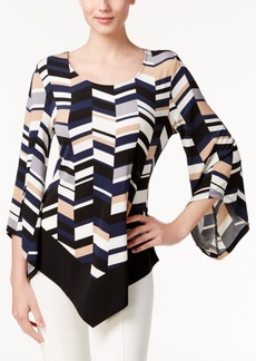 Alfani Printed Asymmetrical Top, Only at Macy's
