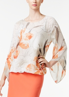 Alfani Petite Printed Angel-Sleeve Top, Only at Macy's