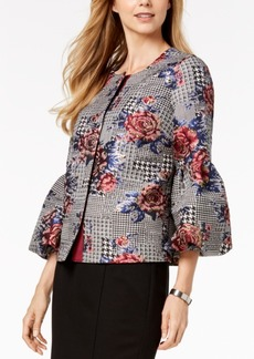 Alfani Printed Bubble-Sleeve Jacket, Created for Macy's