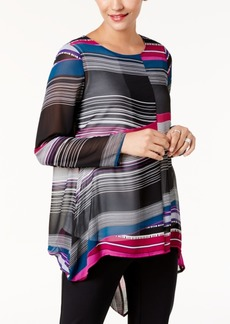 Alfani Printed Chiffon High-Low Tunic, Created for Macy's
