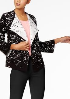 Alfani Petite Contrast Open-Front Sweater Blazer, Created for Macy's