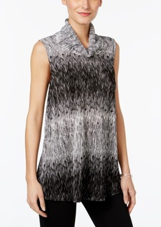 Alfani Printed Cowl-Neck Top, Only at Macy's
