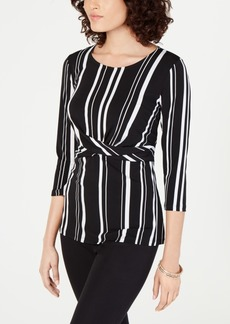 Alfani Printed Cross-Front Top, Created for Macy's