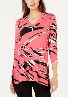 Alfani Printed Cutout Top, Created for Macy's