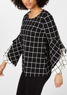 Alfani Printed Double-Ruffle Top, Created for Macy's