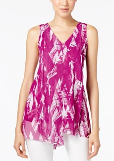 Alfani Printed Draped Top, Only at Macy's