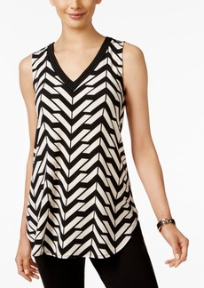 Alfani Printed Embellished Swing Top, Only at Macy's