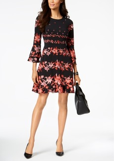 Alfani Printed Fit & Flare Dress Available in Regular & Petite Sizes, Created for Macy's
