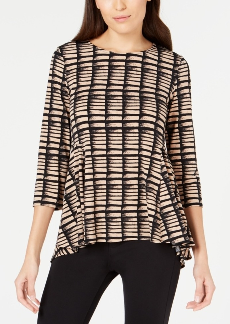 Alfani Printed Flare Top, Created for Macy's