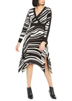 Alfani Printed Handkerchief-Hem Midi Dress, Created For Macy's