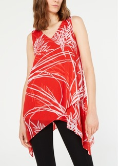 Alfani Printed Handkerchief-Hem Top, Created for Macy's