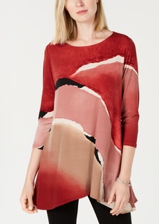 Alfani Petite Printed High-Low Tunic, Created for Macy's