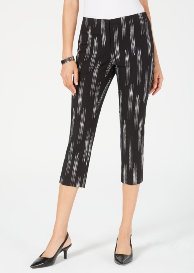 Alfani Printed High-Waist Capri Pants, Created for Macy's