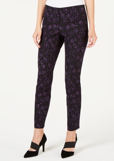 Alfani Petite Printed Hollywood-Waist Skinny Pants, Created for Macy's