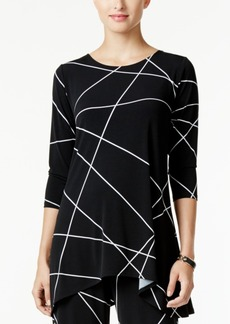 Alfani Petite Printed Swing Top, Only at Macy's