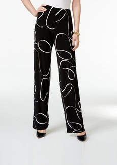 Alfani Printed Knit Wide-Leg Trousers, Only at Macy's