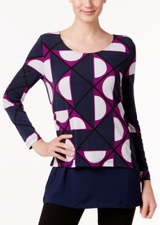 Alfani Printed Layered-Look Top, Only at Macy's
