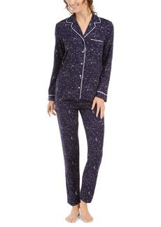 Alfani Printed Long-Sleeve Top & Pajama Pants Set, Created for Macy's