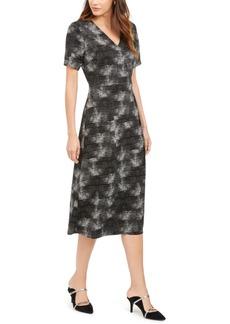 Alfani Printed Midi Dress, Created For Macy's