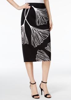 Alfani Printed Midi Pencil Skirt, Only at Macy's