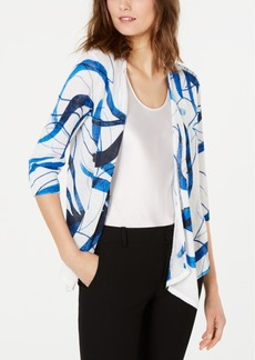 Alfani Petite Printed Open-Front Cardigan, Created for Macy's