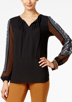 Alfani Printed Peasant Blouse, Only at Macy's