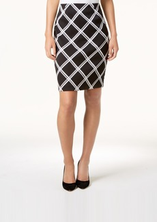 Alfani Printed Pencil Skirt, Created for Macy's