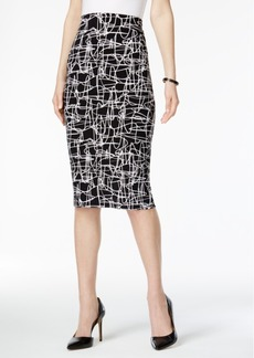 Alfani Printed Pencil Skirt, Only at Macy's