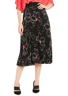 Alfani Printed Pleated Midi Skirt, Created For Macy's