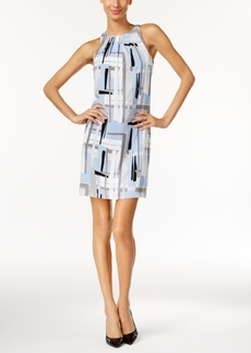 Alfani Printed Pleated Swing Dress, Only at Macy's
