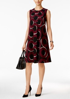 Alfani Printed Pleated Shift Dress, Only at Macy's