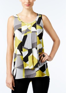 Alfani Printed Pleated Top, Only at Macy's