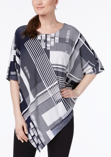 Alfani Petite Printed Dolman-Sleeve Top, Created for Macy's