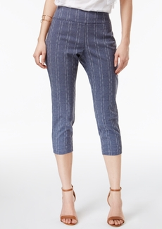 Alfani Printed Pull-On Capri Pants, Created for Macy's