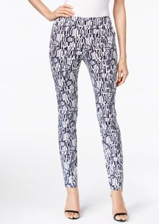 Alfani Printed Pull-On Skinny Pants, Only at Macy's