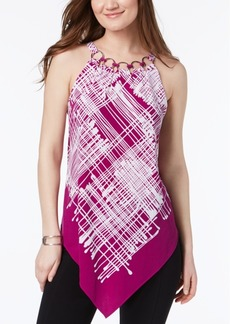 Alfani Printed Ring-Neck Top, Created for Macy's