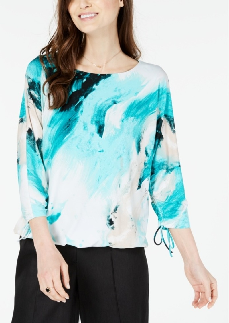 Alfani Petite Abstract-Print Top, Created for Macy's