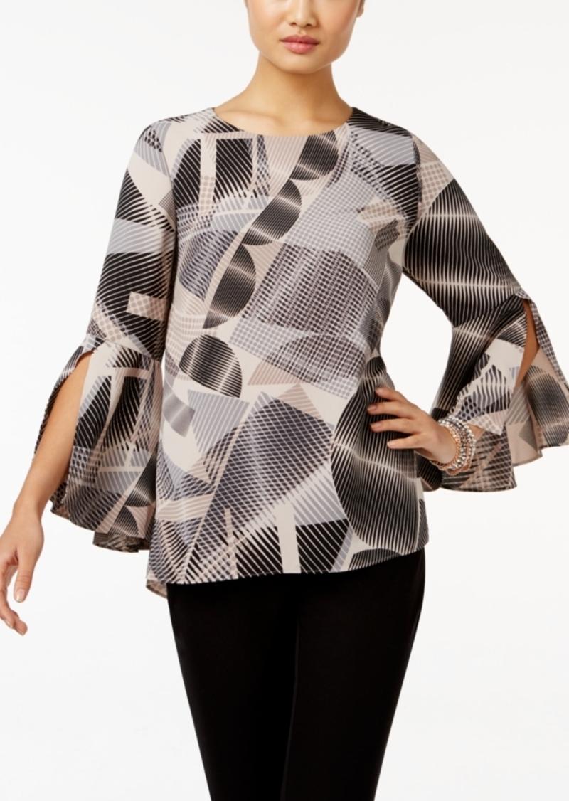 8e98ab5001e25f Alfani Alfani Printed Ruffle-Sleeve Top